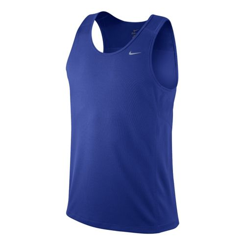Mens Nike Miler Singlet II Technical Tops - Hyper Blue L