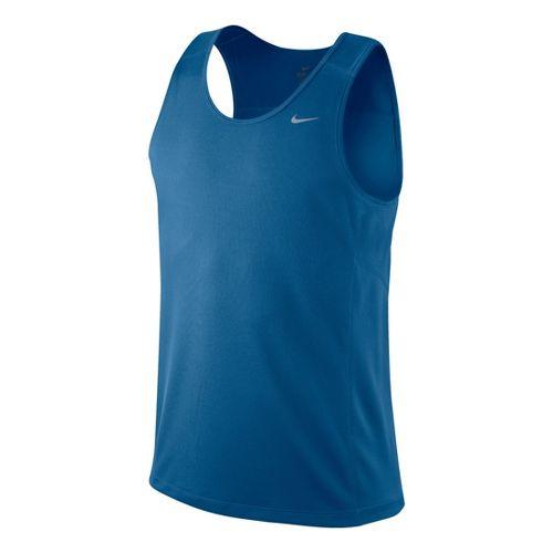 Mens Nike Miler Singlet II Technical Tops - Kadet Blue L