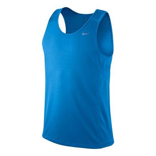 Mens Nike Miler Singlet II Technical Tops - Laser Blue M