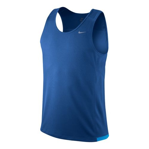 Mens Nike Miler Singlet II Technical Tops - True Blue M