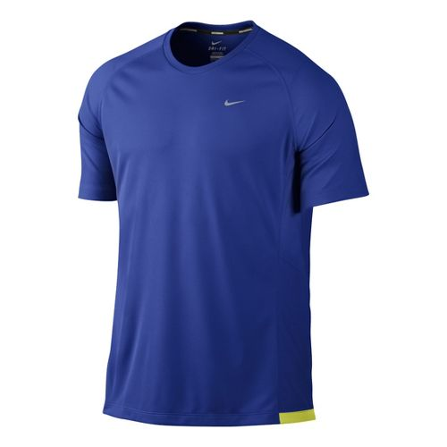 Mens Nike Miler UV Short Sleeve Technical Tops - Hyper Blue L
