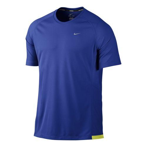 Mens Nike Miler UV Short Sleeve Technical Tops - Hyper Blue M