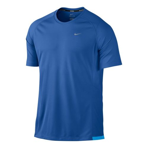 Mens Nike Miler UV Short Sleeve Technical Tops - True Blue L