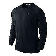 Mens Nike Miler UV Long Sleeve No Zip Technical Tops