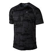 Mens Nike Miler Graphic Short Sleeve Technical Tops