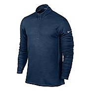 Mens Nike Dri-FIT Wool Half Zip Long Sleeve 1/2 Zip Technical Tops