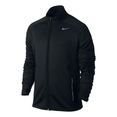 Mens Nike Element Thermal Full Zip Running Jackets - Black L