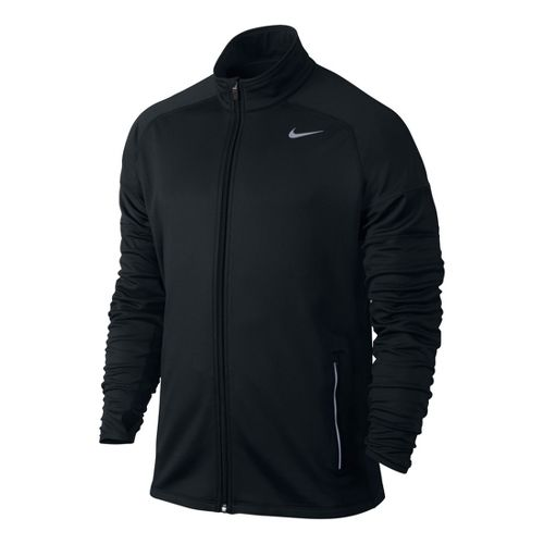 Mens Nike Element Thermal Full Zip Running Jackets - Black S