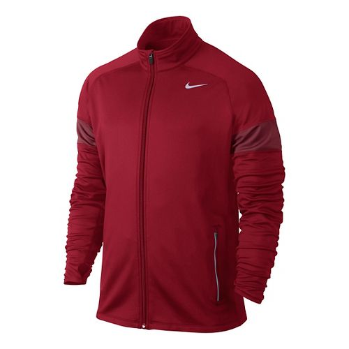 Mens Nike Element Thermal Full Zip Running Jackets - Formula Red L