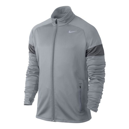 Mens Nike Element Thermal Full Zip Running Jackets - Grey S