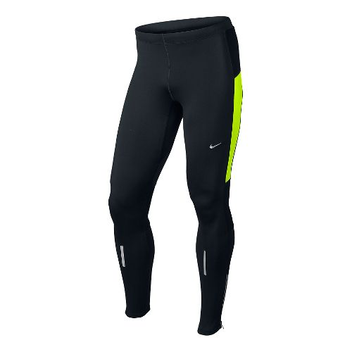 Mens Nike Element Thermal Fitted Tights - Black/Volt XL