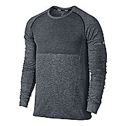 Mens Nike Dri-FIT Knit Long Sleeve No Zip Technical Tops