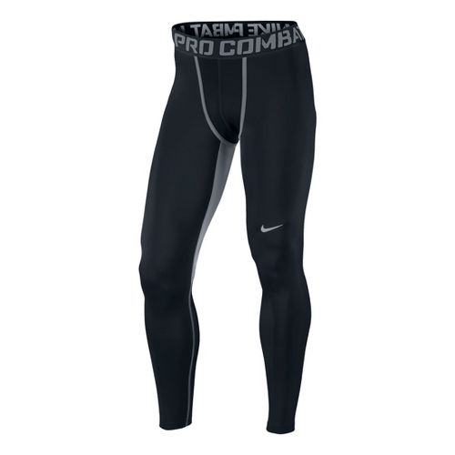 Mens Nike Hyperwarm DF Max Comp Fitted Tights - Black/Cool Grey L