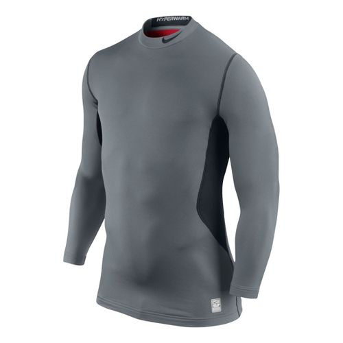 Mens Nike Hyperwarm DF Max Fitted Mock Long Sleeve No Zip Technical Tops - Cool ...