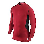 Mens Nike Hyperwarm DF Max Fitted Mock Long Sleeve No Zip Technical Tops