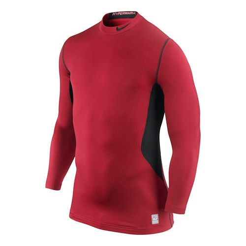 Mens Nike Hyperwarm DF Max Fitted Mock Long Sleeve No Zip Technical Tops - Formula ...