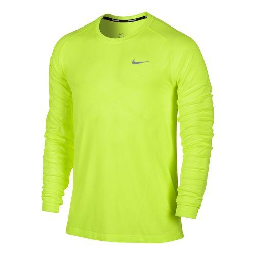 Mens Nike Dri-Fit Knit Long Sleeve No Zip Technical Tops - Electra S