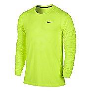 Mens Nike Dri-Fit Knit Long Sleeve No Zip Technical Tops