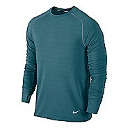 Mens Nike Feather Fleece Crew Long Sleeve No Zip Technical Tops