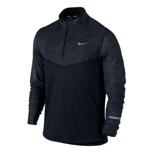 Mens Nike Element Reflective Long Sleeve 1/2 Zip Technical Tops - Black M