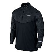 Mens Nike Element Reflective Long Sleeve 1/2 Zip Technical Tops