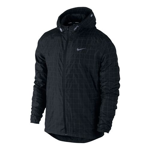 Mens Nike Flicker Hurricane Running Jackets - Black L