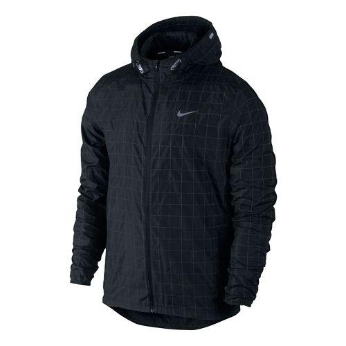 Mens Nike Flicker Hurricane Running Jackets - Black M