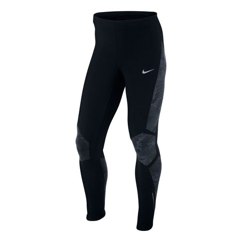 Mens Nike Reflective Fitted Tights - Black XL