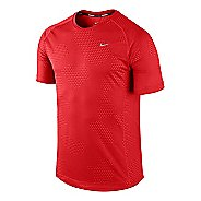 Mens Nike Printed Miler Short Sleeve Technical Tops