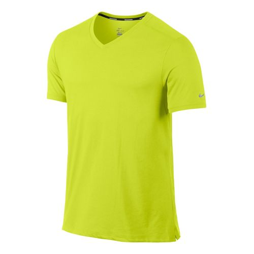Mens Nike Tailwind V Neck Short Sleeve Technical Tops - Electra S