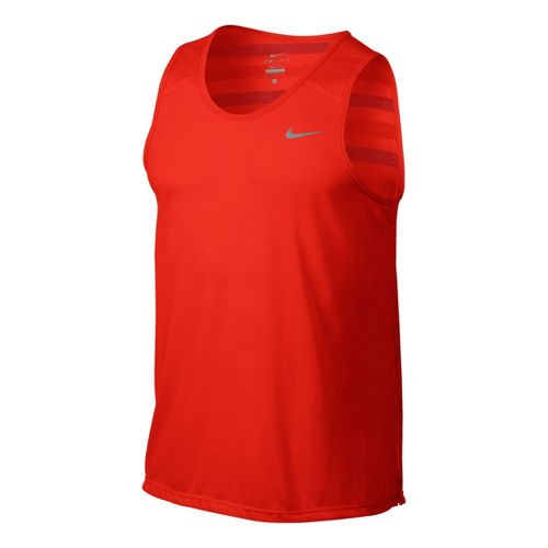 Mens Nike DF Touch Tailwind Tank Technical Tops - Crimson M