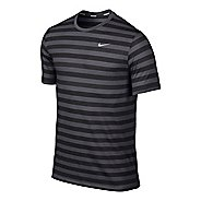 Mens Nike DF Touch Tailwind Striped Short Sleeve Technical Tops