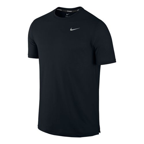 Mens Nike DF Touch Tailwind Crew Short Sleeve Technical Tops - Black L