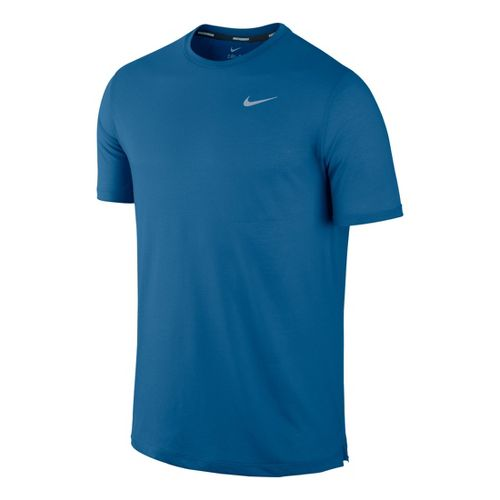 Mens Nike DF Touch Tailwind Crew Short Sleeve Technical Tops - Kadet Blue M
