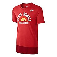 Mens Nike Tee-RU Santa Monica TC Short Sleeve Technical Tops