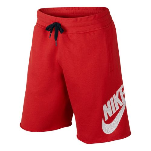 Mens Nike AW77 Alumni Unlined Shorts - Red M