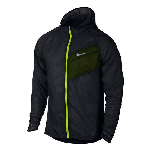 Mens Nike Impossibly Light Running Jackets - Black/Volt L