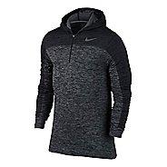 Mens Nike Dri-Fit Knit Long Sleeve 1/2 Zip Technical Tops