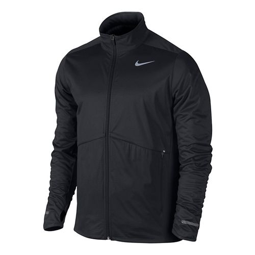 Mens Nike Element Shield Full Zip Running Jackets - Black L