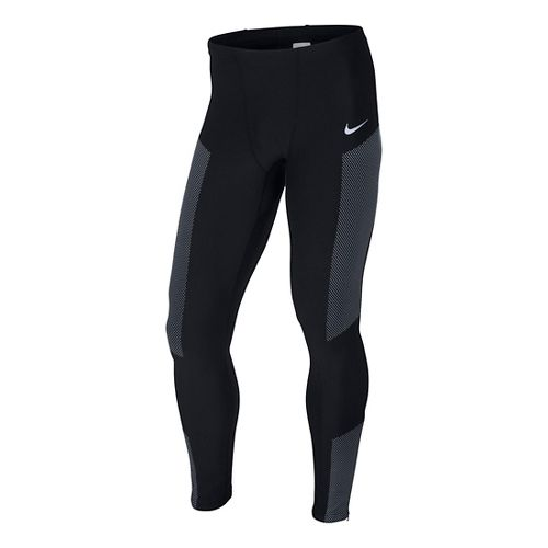 Mens Nike Flash Fitted Tights - Black M
