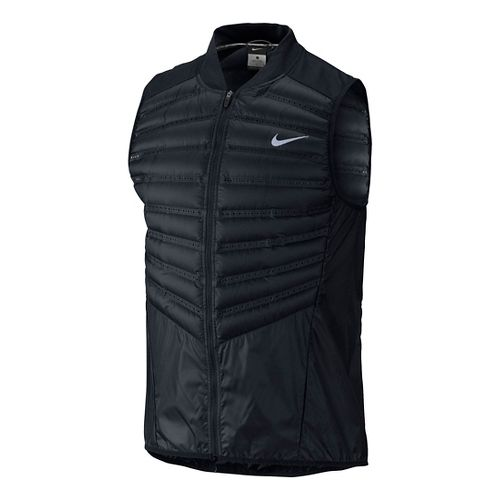 Mens Nike Aeroloft 800 Running Vests - Black M