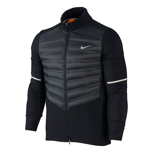 Mens Nike Aeroloft Hybrid Running Jackets - Black XL
