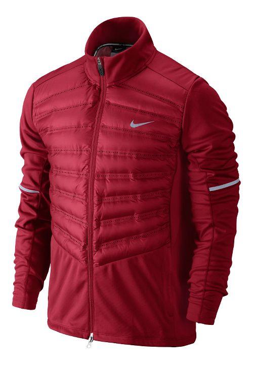 Mens Nike Aeroloft Hybrid Running Jackets - Formula Red S