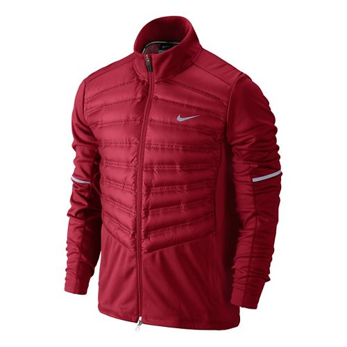 Mens Nike Aeroloft Hybrid Running Jackets - Formula Red XL