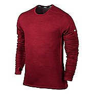 Mens Nike Dri-Fit Wool Crew Long Sleeve No Zip Technical Tops