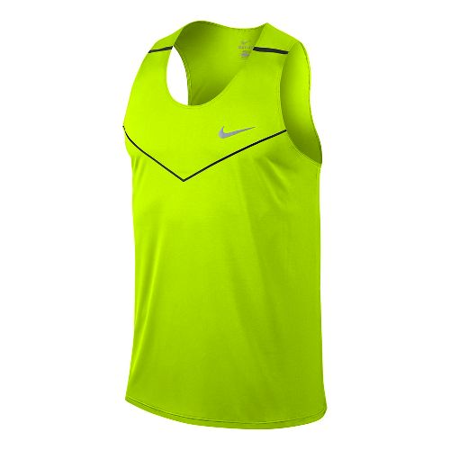 Mens Nike Dri-Fit Racing Tanks Technical Top - Volt L