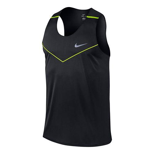 Mens Nike Dri-Fit Racing Tanks Technical Top - Volt M