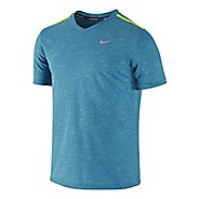 Mens Nike DF Neon Slub Short Sleeve Technical Tops