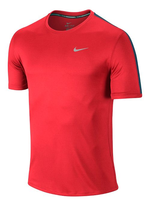 Mens Nike Relay Short Sleeve Technical Tops - Crimson S