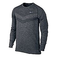 Mens Nike Dri-Fit Knit Long Sleeve Half Zip Technical Tops